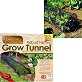 Grow Tunnel Mesh Net Cloche Insect Bird Plant Protection Garden Allotment Crop Cover Quick & Easy Assembly 3 Meter 45x45cm Black