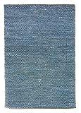 Trendcarpet Flickenteppich Groß - Tuva (Blau) 160 x 230 cm Größe 160 x 230 cm