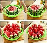 TQ- (2PCS) Affettatrice in Acciaio Inossidabile con Protezione della Lama, Fette di Frutta, Meloni, Anguria, Ananas E Altro, Ottieni Semplicemente 12 Fette Perfette