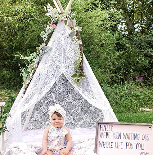 Tiny Land Tipi Enfants pour la Tente de jeu extérieure d'enfants d'intérieur, Tente Fille Tipi de dentelle de Boho (taille de 150 cm)