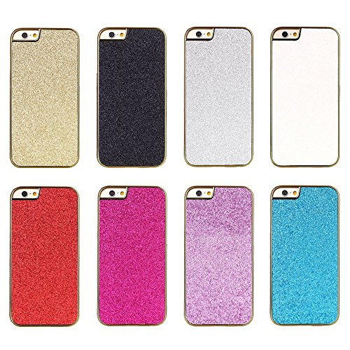 "iProtect Apple iPhone 6 (4,7"") Hülle Glitzer Flash Powder Hard Case Schutzhülle gold Powder Case Gold Pink"