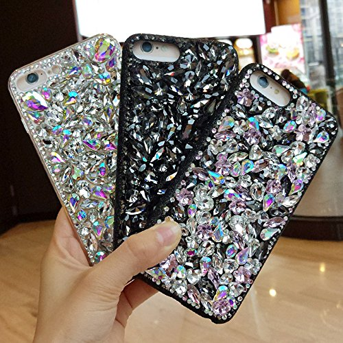 Cover iPhone 6S Plus,Cover iPhone 6 Plus,Custodia iPhone 6S Plus / iPhone 6 Plus Cover,ikasus® Handmade di lusso scintilla Bling Full Crystal strass diamanti custodia per iPhone 6S Plus / 6 Plus Custo Bianca