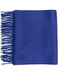 Pure Cashmere plain scarf, Cornflower