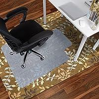 Antaprcis Alfombras de piso de PVC Estera de Protección Alfombrilla para silla de oficina para suelos duros 120 x 90 cm blanco