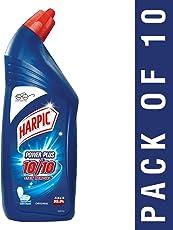 Harpic Power Plus Disinfectant Toilet Cleaner, Original, 1L (Pack of 10)