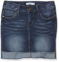 NAME IT Girls�?? Nitabett Slim Dnm Nmt Skirt, Blue (Dark Blue Denim Dark Blue Denim), 164