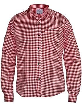 Harrys-Collection Kariertes Trachtenhemd für Trachtenlederhosen