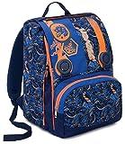 Sac à dos  Scolaire Extensible Seven , KYLIN , Bleu Orange , 28 Lt , primaire et secondaire