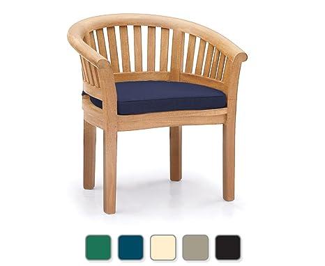Teak Curved Banana FULLY ASSEMBLED Garden Chair Outdoor Armchair