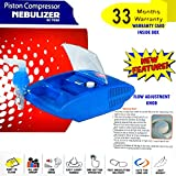 #7: BEST HEAVY DUTY PISTON COMPRESSOR NEBULIZER WITH 33 MONTHS WARRANTY WITH FULL ADULT AND MASK KIT