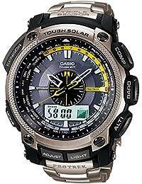 Casio Sport Unisex-Armbanduhr Pro-Trek-Funk-Solar-Kollektion Analog - Digital Quarz PRW-5000T-7ER