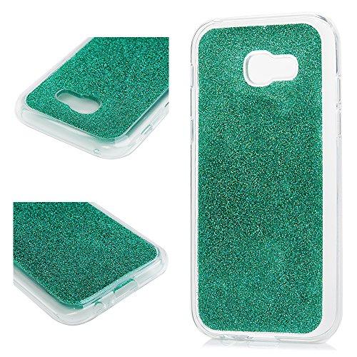 MAXFE.CO Schutzhülle Tasche Case für iPhone X PU Leder Flip Tasche Cover Prägung Einhorn Muster im Ständer Book Case / Kartenfach Grau Blau