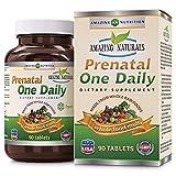 Best Natural Prenatal Vitamins - Amazing Naturals PRENATAL ONE DAILY Multivitamin* 90 Tablets Review