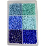 [Sponsored]eshoppee 3mm (8/0) 300 Gm Glass Beads, Seed Beads For Jewelry Making Art And Craft Diy Project Kit (blue/turq Family 8/0)