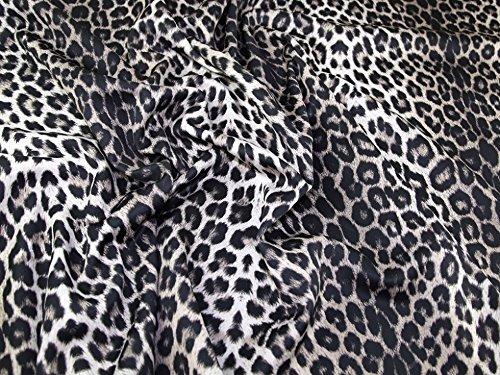 Animal Print Scuba Crepe Stretch Jersey Knit Kleid Stoff schwarz & braun – Meterware (Jersey Animal-print)