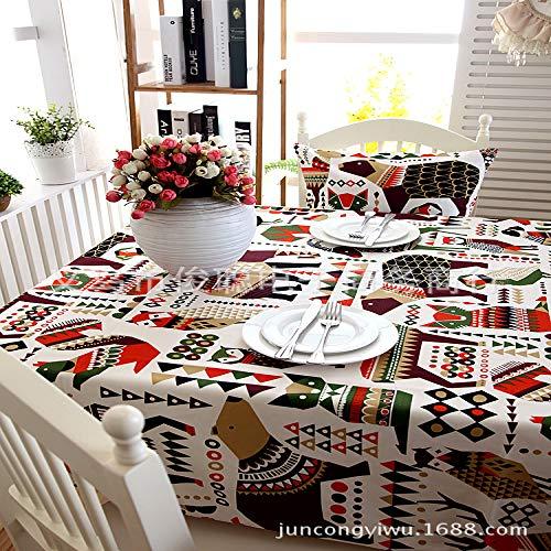 BH-JJGS Baumwolle Verdickung Weihnachten Tischdecke, Eisbär blau Kaffee Party Tischdecke Tischdecke Schokolade Farbe 140X140CM