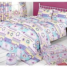 mucky fingers juego de fundas modelo patchwork para nias cama doble