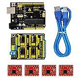 CNC Kit für Arduino - KEYESTUDIO CNC Breakout Board mit CNC-Erweiterungskarte V3.0 +Uno...