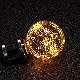 AVAWAY E27 Vintage LED Glühlampe Glühbirne Retro Lampe für Nostalgie Antik Beleuchtung Party Weihnachten Dekoration [Energieklasse A+] (Warmweiß)
