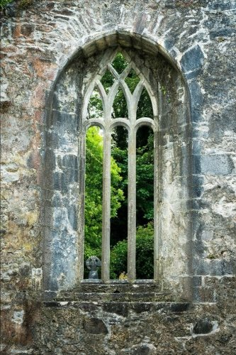 Window with Stone Arch at Muckross Ruin in Ireland Journal: 150 page lined notebook/diary (Ati-windows-laptops)