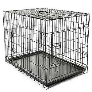 TRESKO® Transportkäfig Hundebox für Hunde, Katzen, Welpen und ...