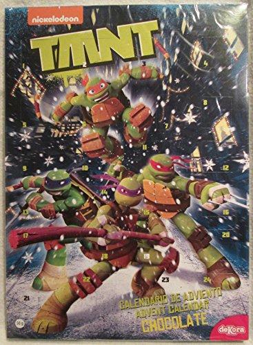 Nickelodeon Teenage Mutant Ninja Turtles Adventskalender mit Vollmilchschokolade für (Mädchen Ninja Das Turtle)