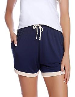 iClosam Short de Sport d'été Bas de Pyjama Femmes avec Ample