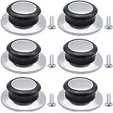 DXLing 6 Unidades Pomo para Tapa de Cocina Universal Manija de Elevación Perillas de Repuesto Resistente Calor con Tornillos