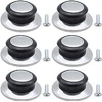 DXLing 6 Pièces Boutons de Couvercles de Pot en Acier Inoxydable Résistant à La Chaleur Bakélite Remplacement Universel…
