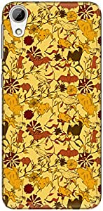 The Racoon Grip printed designer hard back mobile phone case cover for HTC Desire 626. (Yellow Fly)