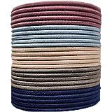 HoneyLush 50 Pcs Unique Assorted Pastal colors Elastic Hair Bands For Women n Girls, (Pack of 50pcs, 10 bands of each