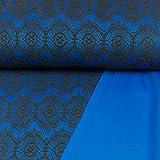 Allroundstoff Modestoffe aufgesetzte Spitze Royalblau