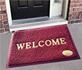 CASANESTTM Dust Remover PVC Welcome Doormat for Offices,Hotel,Restaurant, Home,Shop -Color- Maroon, Size :