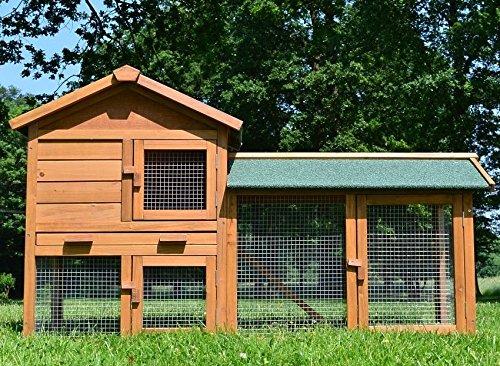 Hasenstall, Kaninchenstall von Zooprismus | doppelstöckig, hellbraun thumbnail