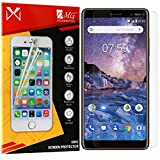 DMG Fiber Tempered Glass Screen Protector for Nokia 7 Plus (Reusable, Ultra Clear, Real Shock Proof, Unbreakable) (Clear)