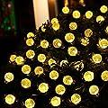 Solar Lichterkette mit 30 warmweiß LED von Protea, 6 Meter Solar Beleuchtung für Hochzeit, Party, Garten, Weihnachten und Fest Deko[Energieklasse A+++], Warmweiß mit Lichtsensor, Außenlichterkette, Weihnachtsbeleuchtung von Protea - Du und dein Garten