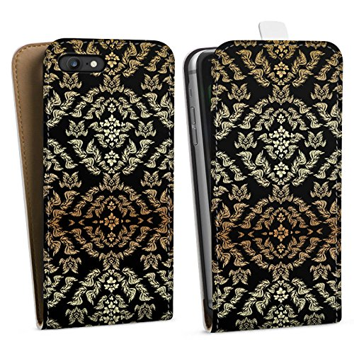 Apple iPhone X Silikon Hülle Case Schutzhülle Ornamente Muster Blumen Downflip Tasche weiß