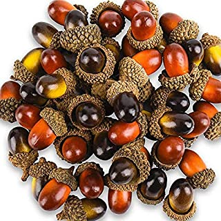 Vidillo Artifical Acorn,100 Pcs Fake Artifical Fruit Acorn Decor Crafting DIY Home Christmas Weeding,2 Color Artificial Lifelike Simuliation Small Acorn Set for Fall Table Scatter for Autumn Decor