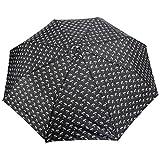 FabSeasons Unisex Black Printed, 3 fold fancy Automatic Umbrella for Rains, Summer & All Year Use