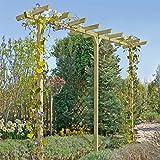 Gartenpirat Pergola aus Holz Torbogen Rankhilfe Länge ca. 450 cm