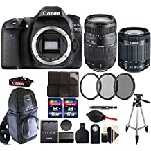 Canon Eos 80D 24.2MP Digital SLR Camera With 18-55mm + 70-300mm And Accessory Kit