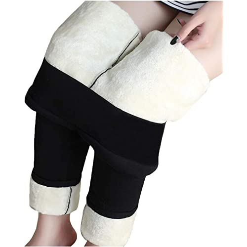 Fuyongkang Pantaloni Leggings, Leggings Donna Termici Leggings a Vita Alta Stretti Invernali da Donna Leggins Felpati Interno Caldo Pile