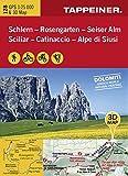 KOKA128 Kombinierte Wanderkarte Schlern-Rosengarten-Seiseralm GPS kompatibel 1:25.000 (Kombinierte Sommer-Wanderkarten Südtirol)...