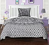#5: Printed Cotton Mandala Duvet Cover Set Twin Elephant Floral Black Quilt Cover By Stylo Culture