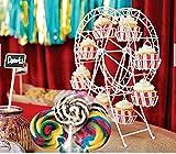 EZ Life Starters - CupCake - Dessert Server- Metal Ferris Wheel - 8 Server - White
