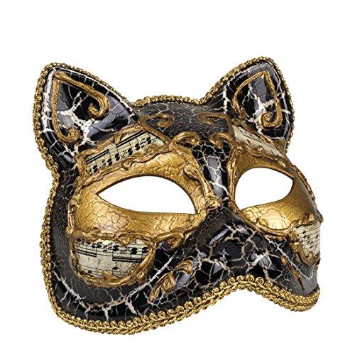 Halloweenia - Damen Kostümzubehör: Venezianische Maske, Katze, - Katze Venezianische Maske