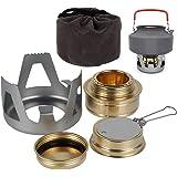 Mini Alcohol Burner, Ultralight Portable Aluminium Mini Copper Spirit Stove Camping Stove Alcohol Stove for Outdoor Camping H