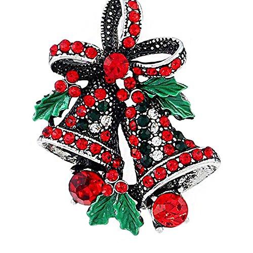 Cosanter Spilla di Natale Regalo Creativo Spilla Vintage A Campana per Gioielli Donna 2.8 * 3.8cm