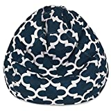 #10: Moroccan tile design, cotton canvas comfort research printed bean bag cover Size XXL by Aart Store