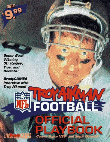 The Troy Aikman NFL Football Official Playbook Covers Super Nes and Sega Genesis!